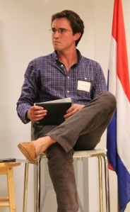 Moderator Austin Kiessig