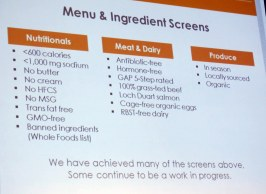 LYFE Kitchen's criteria for sourcing ingredients