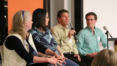 From left to right, Patricia, Kelly, Stu, and moderator Austin Kiessig