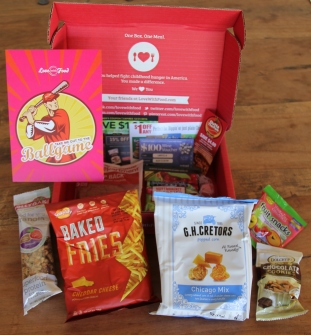 "Sample Love With Food box (themed, ""Take Me Out to the Ballgame"")"